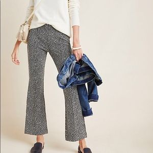 Anthropologie Essential Leopard Cropped Flare Pant